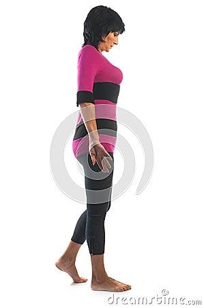 mature woman in tadasana pose stock photo  image 50322900