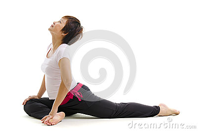 Mature woman in yoga