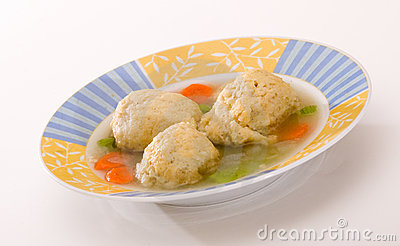 Matza Ball Soup on White