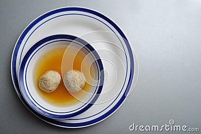 Matzah ball (kneidel) soup