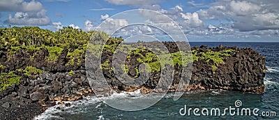 Maui Hawaii tropical landscape at Black Sand Beach