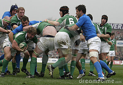 Maul,Ireland V Italy,6 Nations Rugby Editorial Stock Image