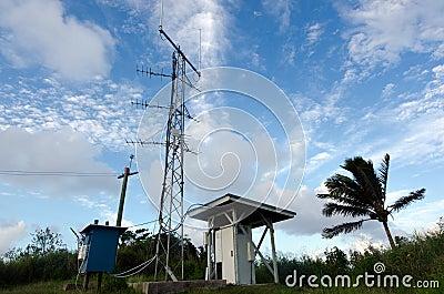 Maunga Pu hill in Aitutaki Lagoon Cook Islands Editorial Stock Image