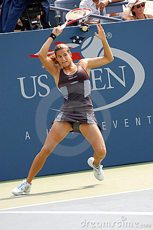 Mauresmo Amelie at US Open 2008 (07) Editorial Stock Photo