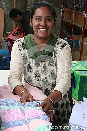 Mauritian Woman - Market Scene Editorial Image