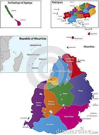 Mauritius map
