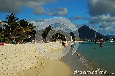 Mauritius seashore Editorial Image
