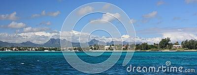 Mauritius shoreline panorama
