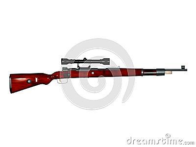 Mauser 98k Sniper rifle 3d