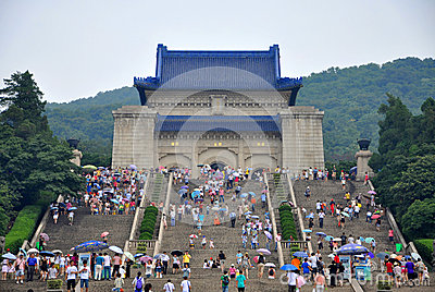 Mausoleum of Dr. Sun Yat-sen Editorial Photography