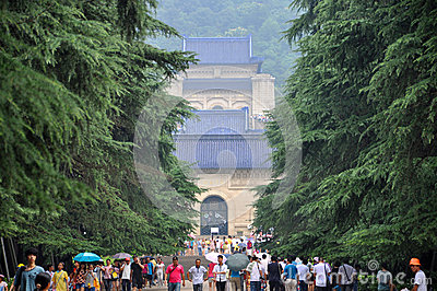 Mausoleum of Dr. Sun Yat-sen Editorial Stock Photo