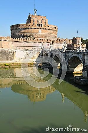 Mausoleum of Hadrian, Rome Editorial Stock Photo