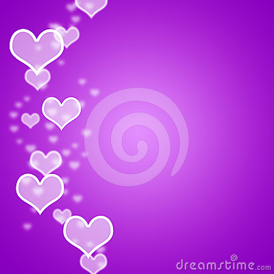 Mauve Hearts Bokeh Background