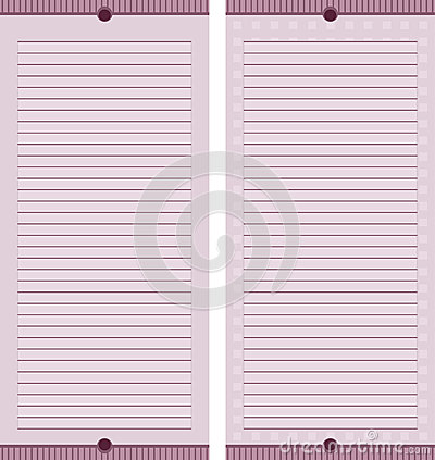 Mauve Stationary Pages