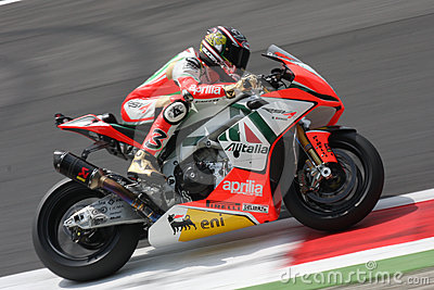 Max Biaggi Aprilia RSV4 Aprilia Racing Team Editorial Stock Photo