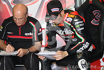 Max Biaggi Aprilia RSV4 Aprilia Racing Team Editorial Stock Photo
