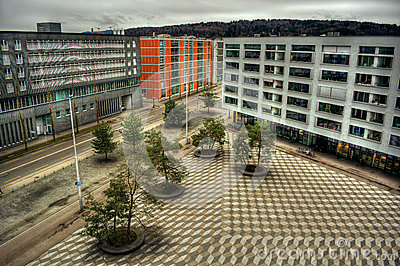 Max-Bill-Platz in Zurich HDR