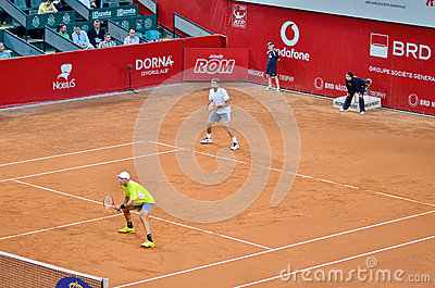Max Mirnyi and Horia Tecau Editorial Stock Image