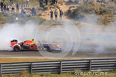 Max Verstappen formula one car circuit zandvoort