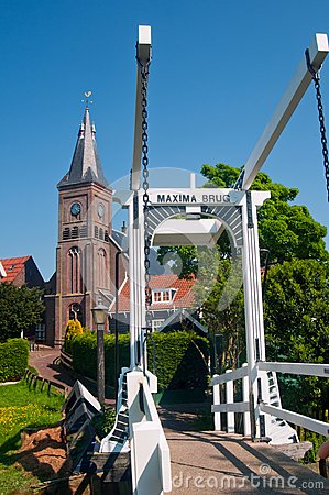 Maxima Bridge In Village Marken