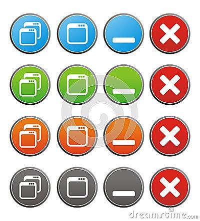 Free Maximize Minimize Circle Buttons Royalty Free Stock Photo - 33611435