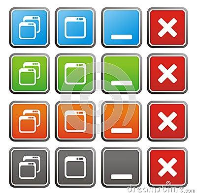Free Maximize Minimize Square Buttons Stock Images - 33611484