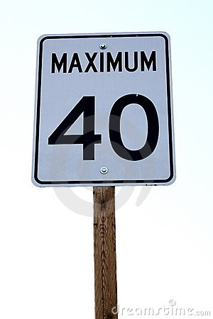 Maximum 40 Sign