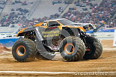 Maximum Destruction Monster Truck Editorial Photo