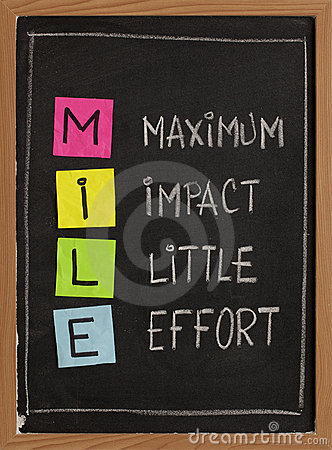 Maximum Impact Little Effort Royalty Free Stock Images