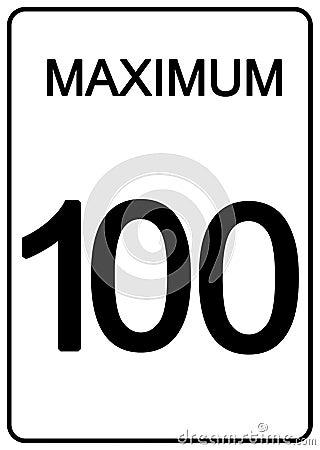 Maximun speed sign