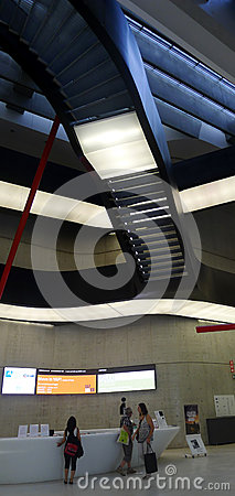 Maxxi, National Art Museum of XXI Century, Rome Editorial Stock Image