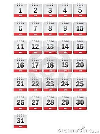 May Calendar Icons