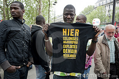 May Day Demonstration, Paris, France Editorial Image