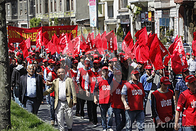 May Day in Istanbul Editorial Photography