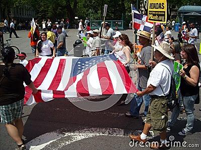 May Day Parade 2010 New York USA Editorial Photo