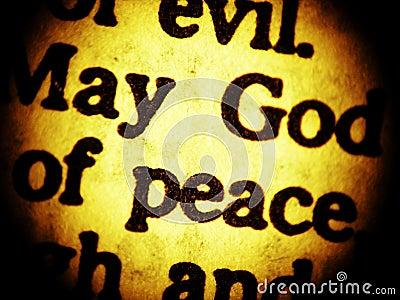 May God of peace... - close up