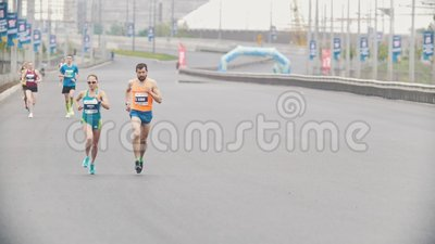 20 May 2018, Kazan, Russia - Kazan Marathon, Men And A ...