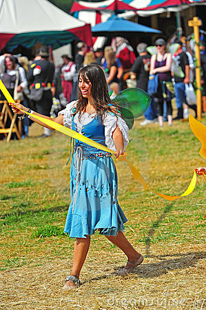 May pole dance at a local Renaissance fair Editorial Photo