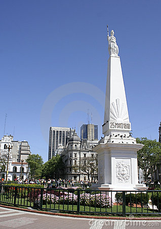 May Pyramid, Buenos Aires, Argentina Editorial Stock Photo