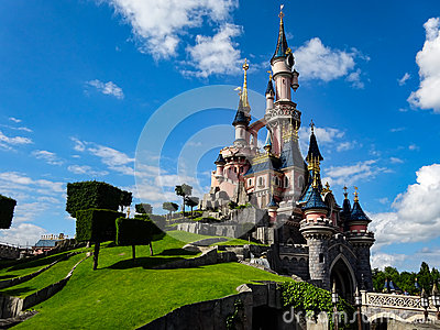 May 24th 2015 : Castle in Disneyland Paris Editorial Stock Photo