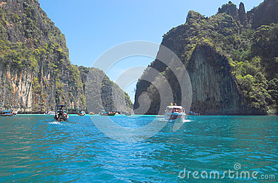 Maya Bay Editorial Stock Photo