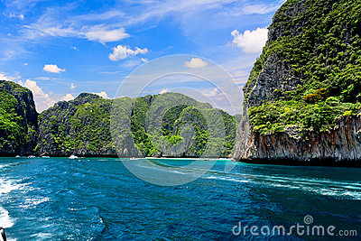 Maya bay on Phi Phi island, Thailand