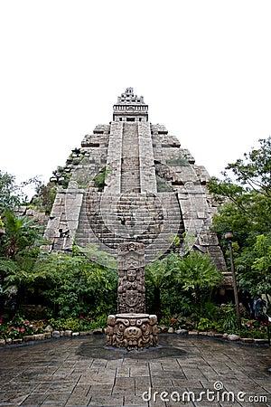 Maya civilization building