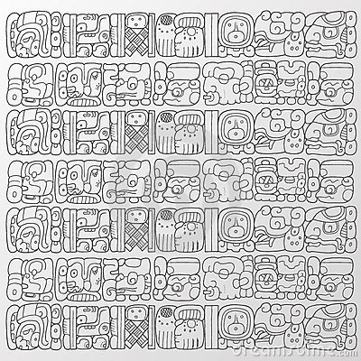 Maya glyphs background