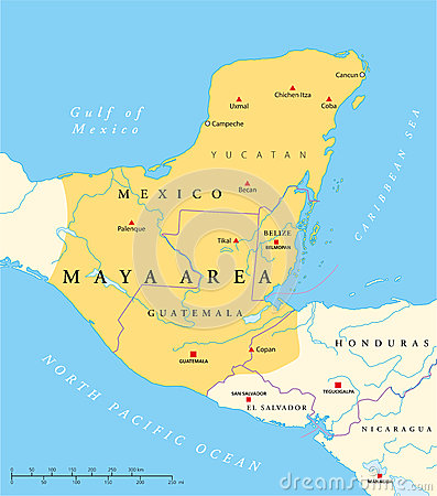 Classic and post classic maya civilization in mesoamerica political