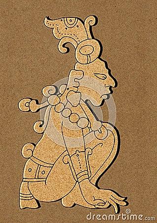 Maya - ilustração do calendário maia