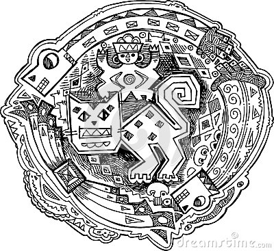 Maya katachtige decoratie