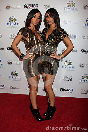 Maya & Nandy of the group Heroine December arriving at the Celebrity Casino Royale Event Editorial Image