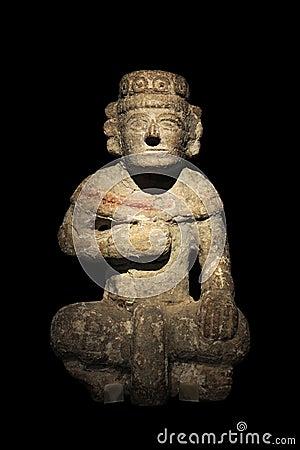 Maya Stone Statue