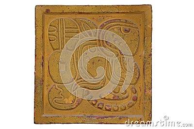 Maya style wall decoration